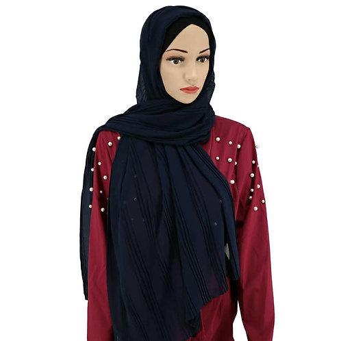 Maryam's Diamond Style Double Pleated Chiffon Hijab
