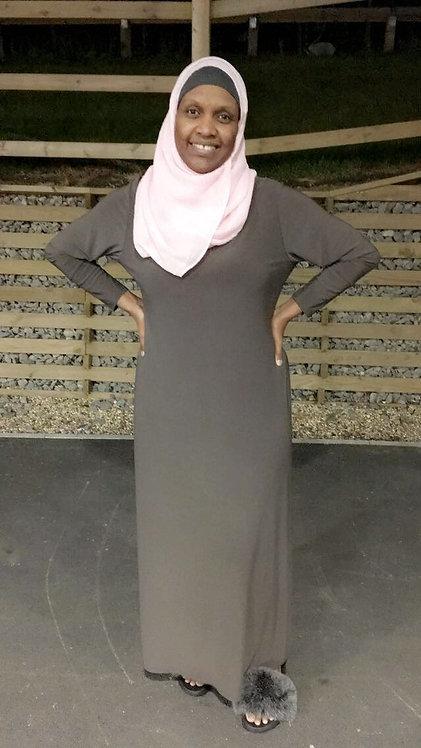 Maryam's Diamond Style Simple Abaya Dress
