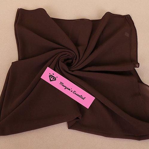 Maryam's Diamond Style 2020 Square Everyday Pure Solid Colour Chiffon Hijab