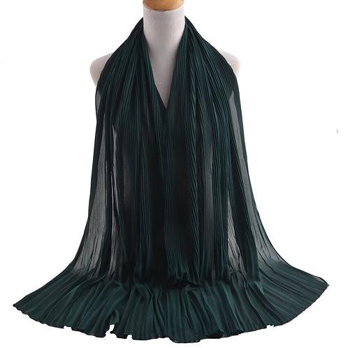 Maryam's Diamond Brand Style New Design Plain Pleated Chiffon Crinkle Hijabs are