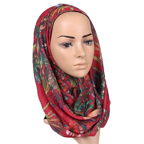 Maryam's Diamond Style Floral Printed Cotton Hijab