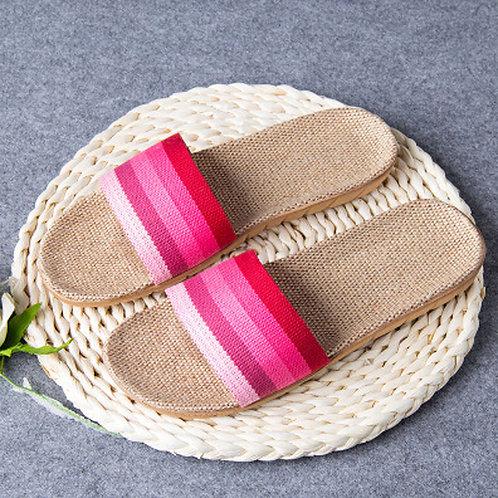 Maryam's Diamond Style Latest Anti-Slip Linen Slippers