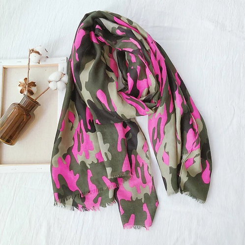 Maryam's Diamond Style Cotton Viscose Military Camouflaged Hijab