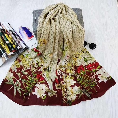 Maryam's Diamond Style Stunning Silk Satin Printed Shawl/Hijab