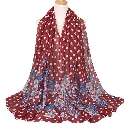 Maryam's Diamond Style Floral Print Viscose Soft Hijab/Shawl