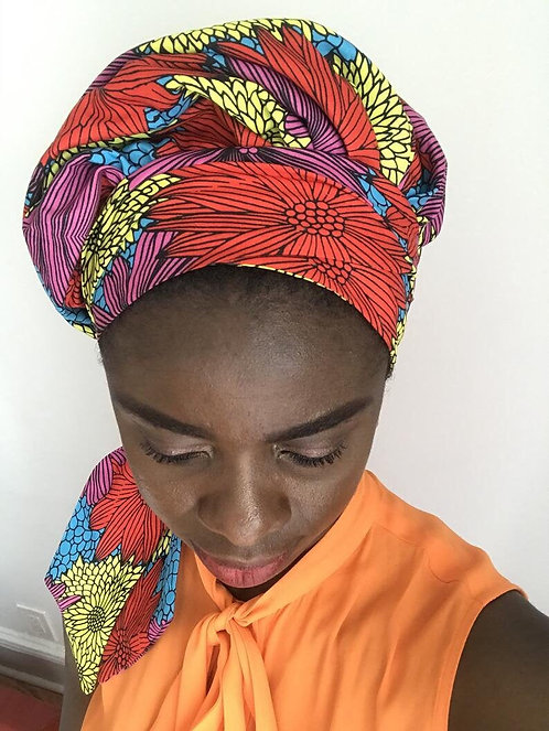 Maryam's Diamond Style African Print Ankara  Wrap Up Cap
