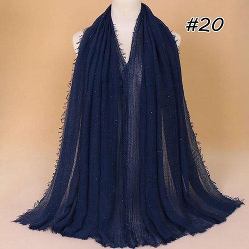 Maryam's Diamond Style Latest Premium Shimmer Cotton Crinkle Hijab