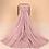 Thumbnail: Maryam's Diamond Style Plain Cotton Lace Edge Hijab