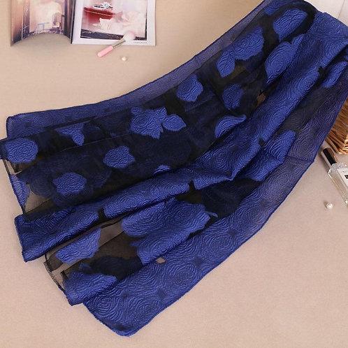 Maryam's Diamond Style Floral Organza Shawl/ Hijab