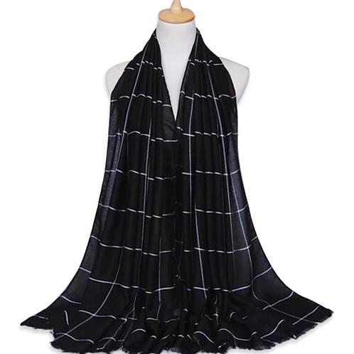 Maryam's Diamond Style Plain Checked Cotton Hijab