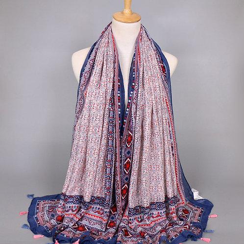 Maryam's Diamond Style Polka Dot Viscose Bohemian Hijab/Shawl