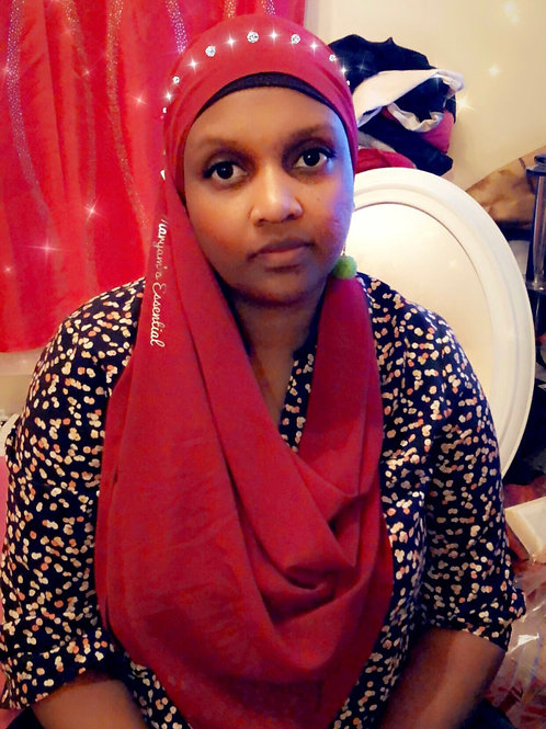 Maryam's Diamond Style Plain Signature Chiffon Hijab