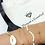 Thumbnail: Maryam's Diamond Style Genuine Cowrie Sea Shell Chain Charm Bracelet Set