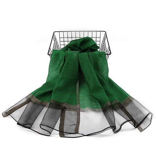 Maryam's Diamond Style Organza with Shimmer Edge Viscose Hijab/Shawl