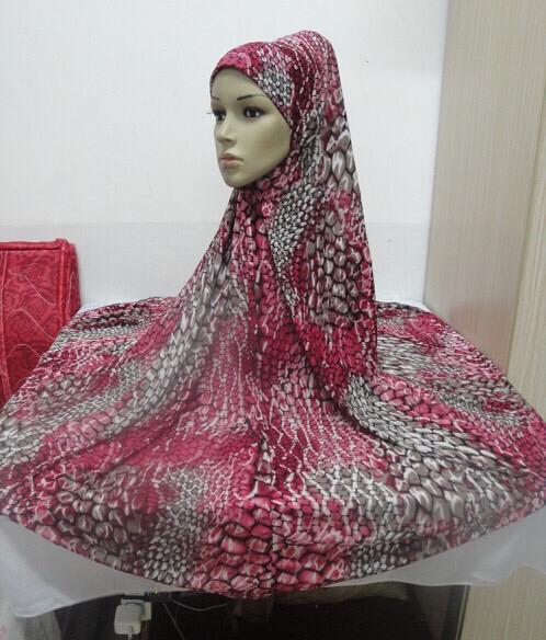 Maryam's Diamond Style Long Printed Khimar Hijab