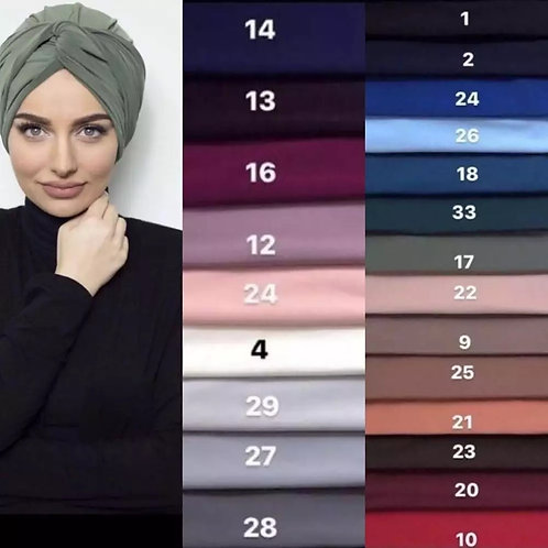 Maryam's Diamond Style Plain Suede Turban Wrap/Cap
