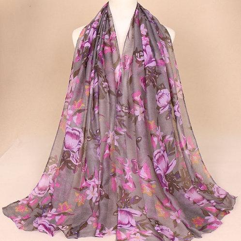 Maryam's Diamond Style Floral Print Viscose Soft Hijab