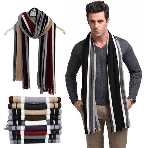 Maryam's Diamond Style Men Luxury Tassel Cashmere Scarf