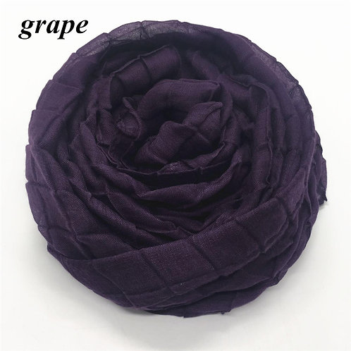 Maryam's Diamond Style Embossed Grid Viscose Solid Crinkle