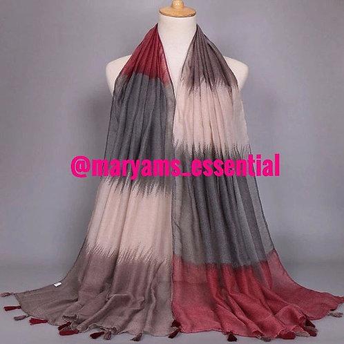 Maryam's Diamond Style Latest Gradient Ombre Tassels Viscose Hijab/Shawls