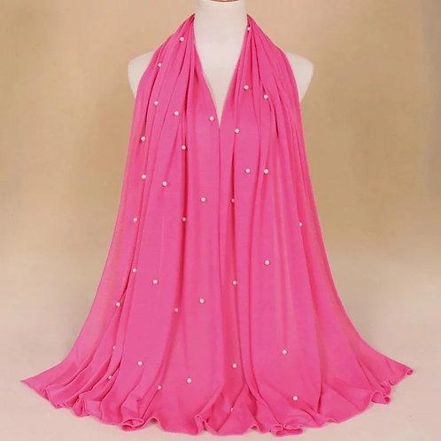 Maryam's Diamond Style Premium Jersey with Pearls Hijab/Shawl