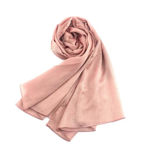 Maryam's Diamond Style Plain Shiny Polyester Hijab