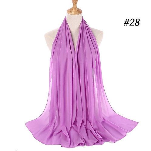 Maryam's Diamond Style Georgette Soft Chiffon Scarf/Hijab