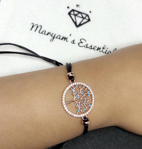 Maryam's Diamond Style Life Tree String Charm Bracelet