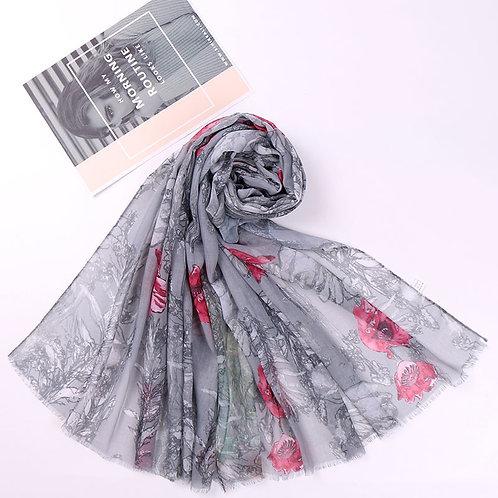 Maryam's Diamond Style Floral Printed Cotton Viscose Hijab
