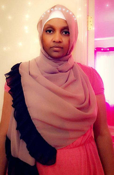 Maryam's Diamond Style Plain Edge Soft Chiffon Scarf/Hijab