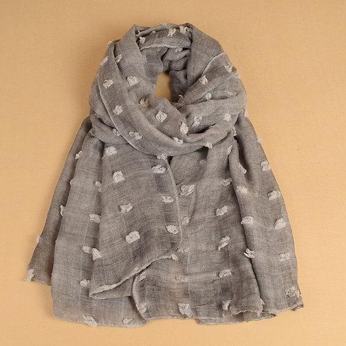Maryam's Diamond Style Cotton Linen Tassels Hijab