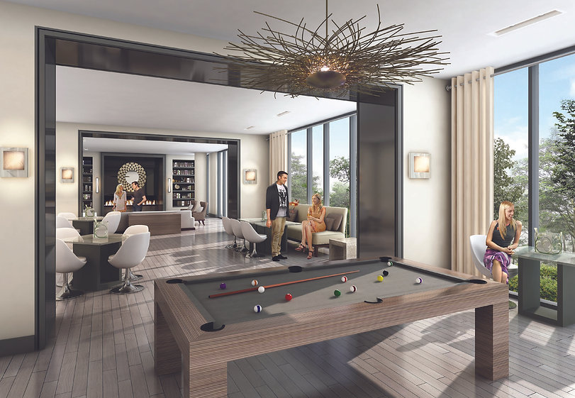 Ocean Club Condos Toronto Billiards Room