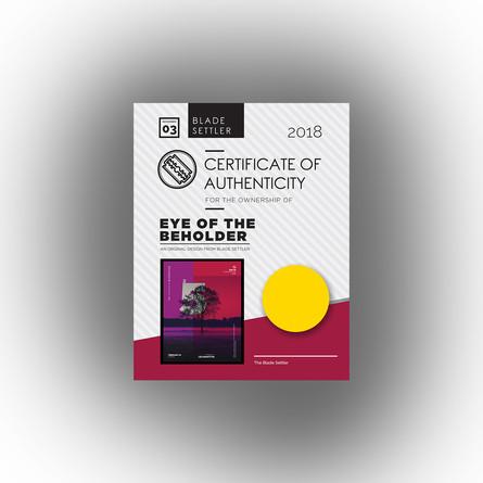 Blade Settler Certificate