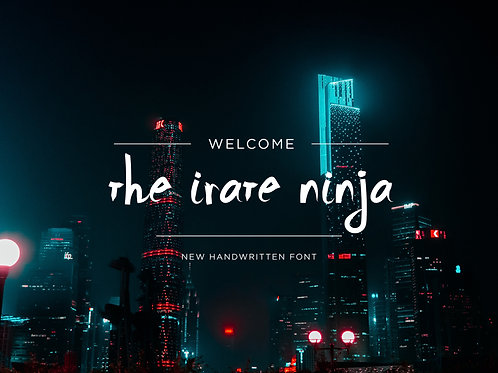 Irate Ninja Font