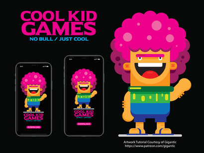 Cool Kid Games Vector Logo & Character