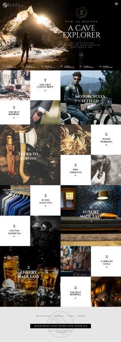 Website Layout Rustic