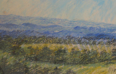 Óleo sobre cartulina, 1984/ Oil on cardboard.