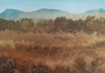 Óleo sobre cartulina, 1985/ Oil on cardboard, 1985.