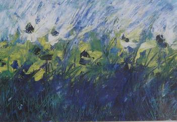 Óleo sobre papel, 2001/ Oil on paper, 2001.
