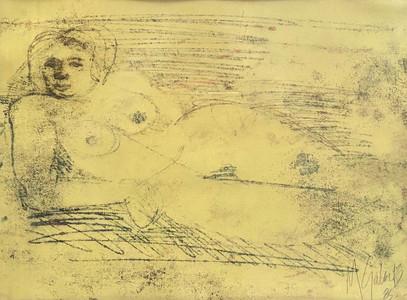 Transferencia de óleo sobre papel, 1985/ Oil on paper transfer, 1985.