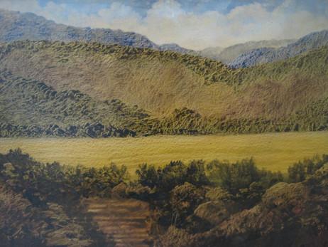Óleo sobre cartulina, 1992/ Oil on cardboard, 1992.