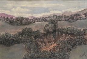 Pastel de óleo sobre papel, 1984/ Oil pastel on paper, 1984.
