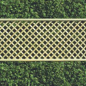 Panel 6ft x 6ft Framed Diamond Trellis