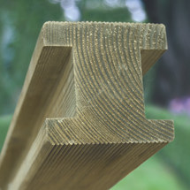 Planed & Ribbed Pine H Post Square Both Ends