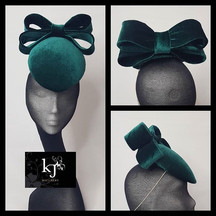 Velvet Percher With Back Bow