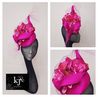 Sik Percher and Peonies