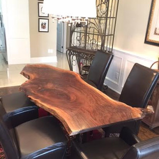 009B - Single Slab Black Walnut Live Edge Table