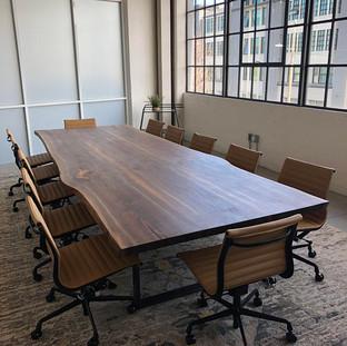 24- Black Walnut Boardroom Table