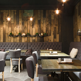 11-  Restaurant Wooden Wall Accents