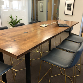 31 -Maple Conference Table stained Walnut